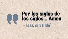 amen...con amor...