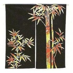 Cotton Noren x - Colour Bamboo(Medium)Made in Japan Eden Restaurant, Doorway Curtain, Noren Curtains, Japanese Colors, Made In Japan, Asian Decor, Pcos, Medium, Ladder Decor