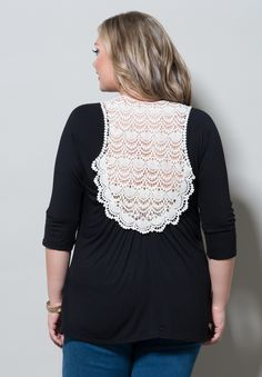 Elizabeth Crochet Back Top, Black #swakdesigns swakdesigns.com