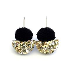 Fresh, fun and bright, these gorgeous little earrings are just the right amount of sparkle and pom!