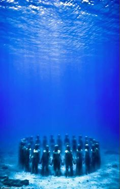 Underwater Sculptures in Grenada. Many see these sculptures as a monument to our African Ancestors who were thrown over board the slave ships during the middle passage. Underwater Sculpture, African American Culture, Yoruba, Expositions, African American History, History Facts, World History, African Art, Grenada