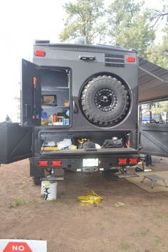 EarthRoamer says the 2014 frame was extended and rear bumper redesigned around the storage boxes and rear winch access
