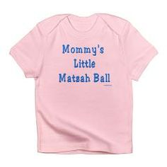 What could be cuter than your newborn baby? These Mommy's Little Matzoh Ball infant t shirts show your love for your child. Buy them to wear during Passover and throughout the year. This infant shirt is 100% cotton and tagless and comes in several colors. It fits up to size 18-24 months.