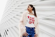 Skylar Yoo is a company that inspires and empowers women to be bold! We sell feminist graphic tees, art prints and accessories that's all about female empowerment. Statement Tees, The Girl Who, Graphic Shirts, Women Empowerment, Feminism, Female, Model, Circuit Crafts, How To Wear