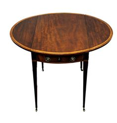 OnlineGalleries.com - Antique Georgian Mahogany Oval Pembroke Table