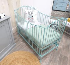 Iron cot model Torino - color turquoise of Fabs World  www.fabsworld.nl also for wholesale in every country - info@fabsworld.nl for more information