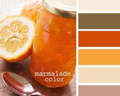 33 Orange Color Schemes, Inspiring Ideas for Modern Interior Decorating with Orange Colors – Lushome Orange Color Combinations, Orange Color Schemes, Orange Color Palettes, Colour Pallette, Design Seeds, Kitchen Colour Schemes, Kitchen Colors, Marmalade, Color Swatches