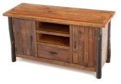 Rustic Hickory Entertainment Center, Log Furniture, Rustic | Woodland Creek Furniture