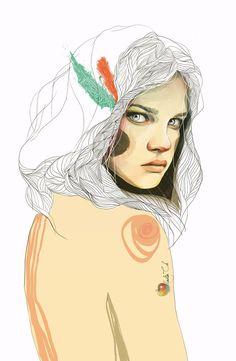 Nadiia Cherkasova es una joven arquitecto y artista freelance Ucraniana apasionada por todo el movimiento artístico (arquitectura, diseño, literatura, pintura, fotografía, música). Los trabajos de ilustración de Nadiia destacan por su contraste entre el trazo que usa y los colores que hacen destacar los fantásticos retratos femeninos que realiza.