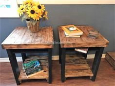 reclaimed pallets side tables