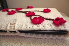 Cherry Blossom Laptop Sleeve - CROCHET