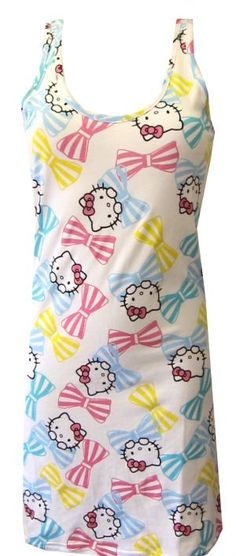 0408d6cbe Super comfy and very cute! These short nightgowns for women feature classic Hello  Kitty Faces
