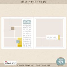 <3 this template!  January Daily Tale 1 by Kitty Designs