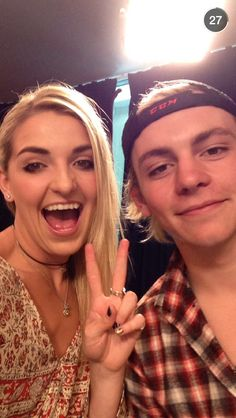 Ross and Rydel at Radio Disney