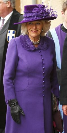 Camilla in royal purple