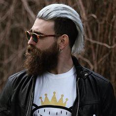 Gray Slicked Back Undercut Hairstyle
