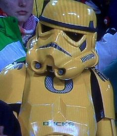 """Here's an Oregon Storm Trooper who, we think, is saying """"Darth Vader's boys, complete wusses."""""""