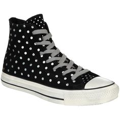 Converse Chuck Taylor All Star Printed Suede Hi-Top Trainers,... ($46) ❤ liked on Polyvore