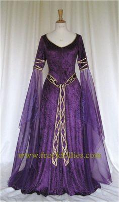 Eva un vestido de novia celta elfos Medieval por frockfollies