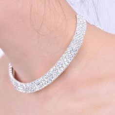 $4.95 - Rhinestone Embellished Necklace  - #WHOLESALE #JEWELRY - Wholesalerz.com