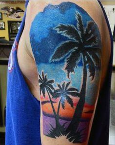 Arm Tattoos Beach For Men