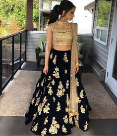 The Stylish And Elegant Lehenga Choli In Blue Colour Looks Stunning And Gorgeous With Trendy And Fashionable Embroidery . The Cotton Silk Fabric Party Wear Lehenga Choli Looks Extremely Attractive And. Indian Wedding Outfits, Indian Outfits, Indian Party Wear, Indian Wedding Hair, Indian Engagement Outfit, Punjabi Wedding, Indian Clothes, Party Wear Lehenga, Party Wear Dress