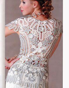 crochet join as you go dresses | Crochet Flower Patterns Dresses Embellishment women's evening go ...