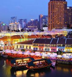 Clarke quay, Singapore, Asia