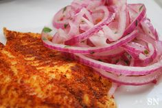 Peruvian Spiced Fish + Salsa Criolla | Sincerely Nourished