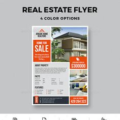 Business Brochure, Business Flyer, Presentation Magazine, Promotion, Annual Report Covers, Real Estate Flyer Template, Real Estate Flyers, Brochure Layout, Corporate Flyer