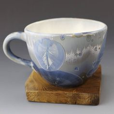 Big Cup Crystalline Glaze Frozen Silver 15 oz