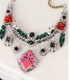 NECKLACE: http://www.glamzelle.com/collections/whats-glam-new-arrivals/products/lyubov-neon-crystal-bib-necklace