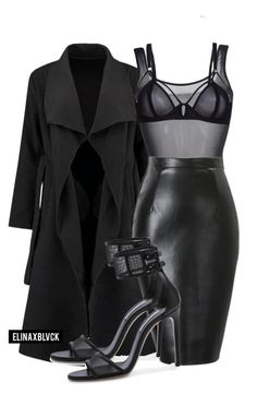 Untitled #1326 by elinaxblack on Polyvore featuring polyvore, fashion, style, Wolford, Bluebella and Casadei