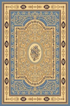 Rugs America New Vision French Aubusson 1365 Light Blue Area Rugs