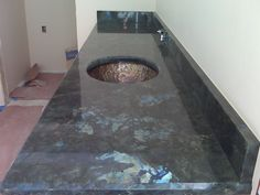 Labrodorite Blue Australe Granite - gorgeous metallic shading