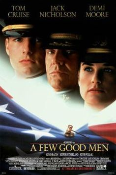 A Few Good Men starring Tom Cruise, Jack Nicholson, Demi, Moore Kevin Bacon, Kiefer Sutherland Best Man Movie, Man Movies, Drama Movies, Movie Tv, Drama Film, Movie Club, Movies 2019, Demi Moore, Jack Nicholson
