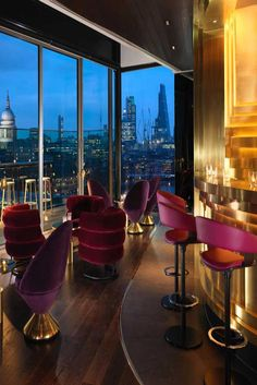 """The Bar at Mondrian London at Sea Containers. """"The sumptuous decor with spectacular views over the river together with amazing cocktails make it a winner."""" - TripAdvisor Traveler"""