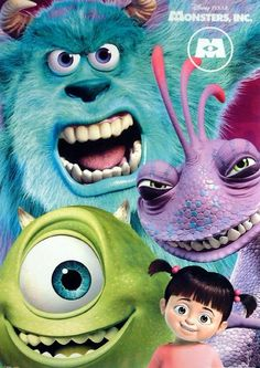 Monsters inc has got to be the most influential of all the Disney movies for me. Monsters Inc Boo, Monsters Ink, Disney Pixar Movies, Kid Movies, Walt Disney, Cute Disney, Monsters Inc University, Monster Inc Party, Love Monster