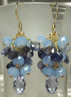 Lavender Quartz Iolite Briolettes Lavender Crystal by Ruffelocity, $35.95