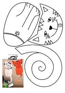easy pop up frog art for kids hub - PIPicStats Cat Crafts, Animal Crafts, Art For Kids, Crafts For Kids, Arts And Crafts, Craft Activities, Preschool Crafts, Paper Art, Paper Crafts