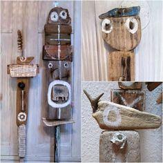 mano k., treibholzfiguren - driftwood figures
