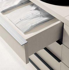 Nicchia by Fimes: drawer detail. #bed #nightstand #bedroom #closet #slidingdoors #leafdoors #interiordesign #design #modern #contemporary #madeinitaly #salonedelmobile #fieradelmobile #isaloni #fieramilano #luxury #glamour #artdeco #fimes #dresser #tvunit #sofa #mirror #silver #gold #leather #glossy #swarovski #fimeshomedesign #homedesign #clay #bookcase #walkingcloset #cornerbed #coplanar #leather