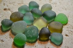 Genuine Beach Sea Glass  Shades of Green  Jewelry by beachglow