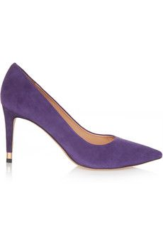 Tory Burch Greenwich suede pumps   THE OUTNET