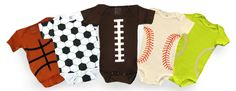 More sports onesies! Cute! (baby clothes, #nursery #layette)