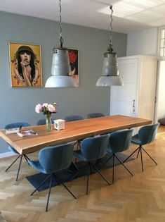 Dining Room Rules: Industrial Dining Room Lighting As The Key Fixture Dining Room Design, Dining Room Table, Mid Century Dining, Dining Room Inspiration, Dining Room Lighting, Home And Living, Interior Design, Home Decor, Industrial Dining