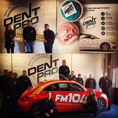 "Thanks to FM104 for sending out the Beetle Bugs out to congratulate us on winning our latest award ""Best Emerging New Business2016"" with the Small Firms Assiocation and putting the squeeze on our Managing Directors lent by tempting him with delicious cup cakes :-P #carporn #dentremoval #cupcakes #dentproie #dublin #lovedublin #FM104 #motoringireland"