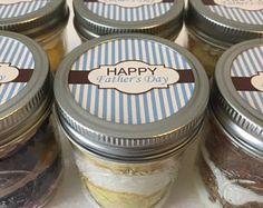Cupcake Jars- Cupcake Mason Jars-Mason Jars-Happy Father's Day- Gifts for Dad-Sweets-Edibles-Custom-Sweet Tooth