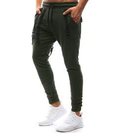 Pánske khaki teplákové jogger nohavice