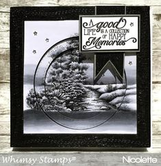 Stella Rue Studios: ~ A Stream of Memories ~ Whimsy Stamps, 30 Day, Hello Everyone, Black And Brown, Card Making, Challenges, Paper Crafts, Memories, Activities